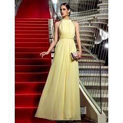 Formal Evening / Military Ball Dress - Daffodil Plus Sizes / Petite Sheath/Column Jewel Floor-length Chiffon