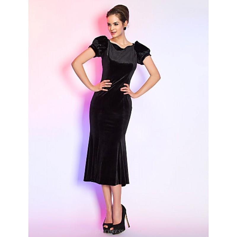 Cocktail Party Holiday Dress Black Plus Sizes Petite Trumpet