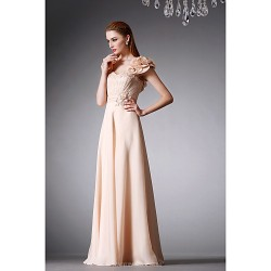 Formal Evening Dress Champagne A Line Sweetheart Floor Length Satin