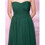 TS Couture Cocktail Party / Holiday / Wedding Party Dress - Dark Green Plus Sizes / Petite A-line / Princess Strapless / Sweetheart Knee-length Special Occasion Dresses