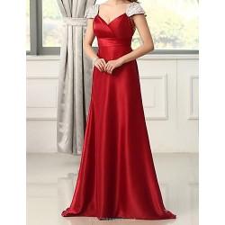 Formal Evening Dress Ruby Petite A Line V Neck Floor Length Chiffon