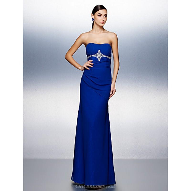 Dress Royal Blue Plus Sizes Petite Sheath Column
