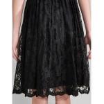 Knee-length Lace Bridesmaid Dress - Black Plus Sizes / Petite A-line V-neck Special Occasion Dresses
