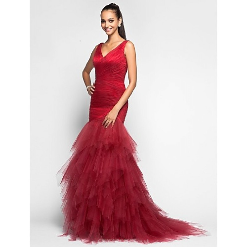 14c58fde31d ... TS Couture Prom   Military Ball   Formal Evening Dress - Burgundy Plus  Sizes   Petite ...