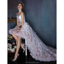 Dress - Multi-color Ball Gown Strapless Asymmetrical Tulle / Charmeuse