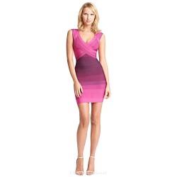Cocktail Party Dress Multi Color Petite Sheath Column V Neck Short Mini Rayon