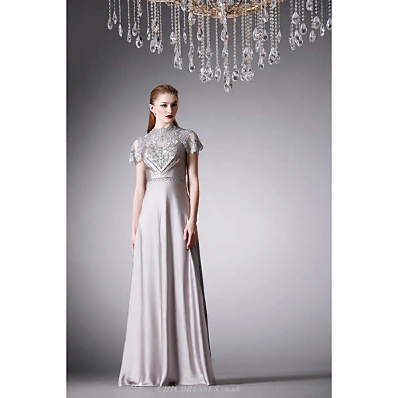 A Line Dresses in Silver