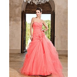 Prom Formal Evening Quinceanera Sweet 16 Dress Watermelon Plus Sizes Petite Princess A Line Ball Gown Sweetheart Strapless