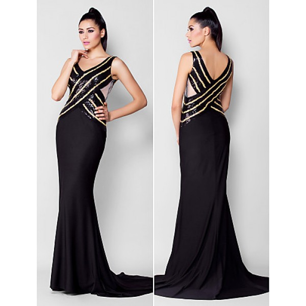 6d93c62067576 TS Couture Formal Evening Dress - Black Plus Sizes   Petite Trumpet Mermaid  V-