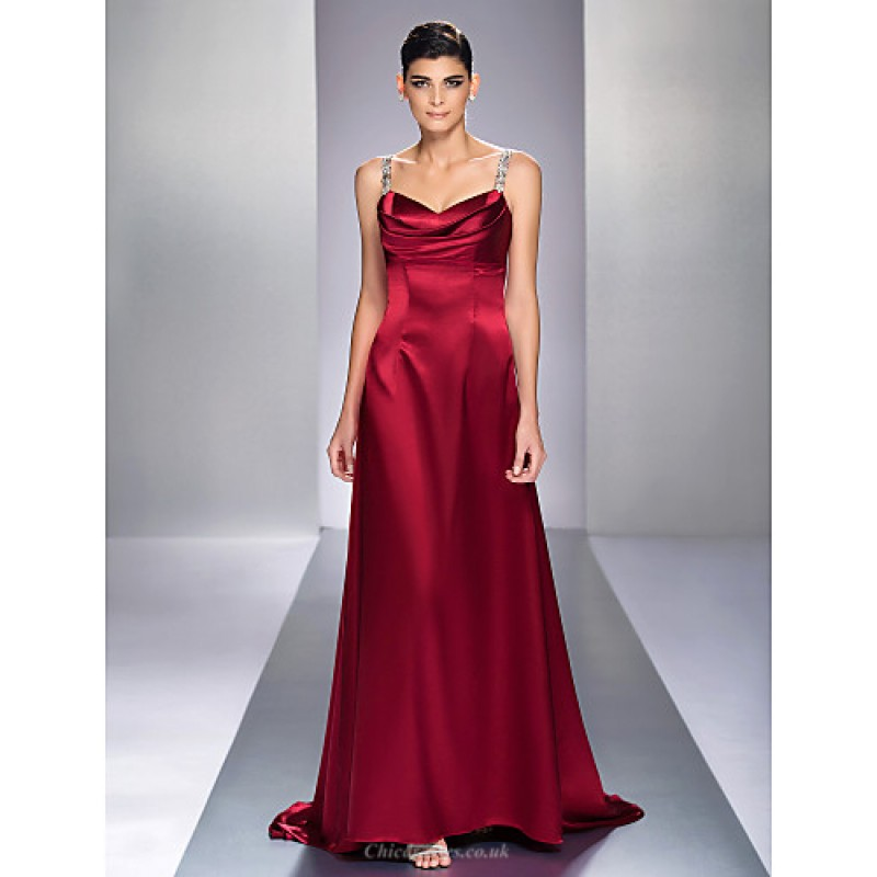 Chic Dresses Formal Evening / Military Ball Dress - Burgundy Plus ...