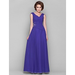 A Line Plus Sizes Petite Mother Of The Bride Dress Regency Floor Length Sleeveless Chiffon