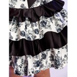Cocktail Party / Homecoming / Holiday Dress - Print Plus Sizes / Petite A-line / Princess Strapless Knee-length Satin Special Occasion Dresses