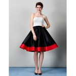 Cocktail Party / Company Party Dress - Multi-color A-line Strapless Knee-length Lace Special Occasion Dresses