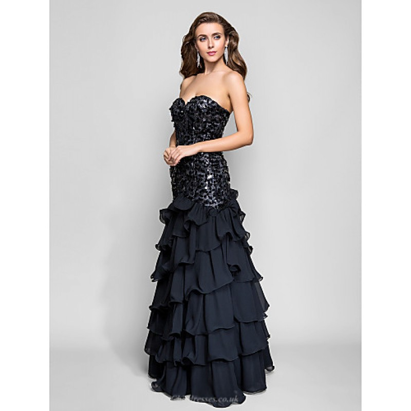 Formal Evening Prom Military Ball Dress Black Plus
