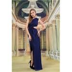 Formal Evening Dress - Dark Navy Sheath/Column One Shoulder Floor-length Knit Special Occasion Dresses