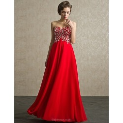 Formal Evening Dress Ruby Petite Ball Gown Sweetheart Floor Length