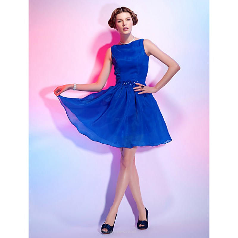 Cocktail Party Dress - Royal Blue Plus Sizes   Petite A-line   Princess  Bateau 1244df46e