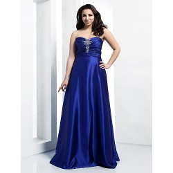 Formal Evening Prom Military Ball Dress Royal Blue Plus Sizes Petite A Line Princess Sweetheart Strapless Floor LengthStretch