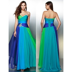 Formal Evening Dress - Multi-color A-line Sweetheart Floor-length Chiffon