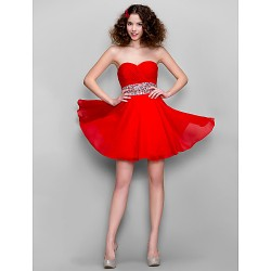 Dress Ruby Plus Sizes Petite A Line Sweetheart Short Mini Chiffon