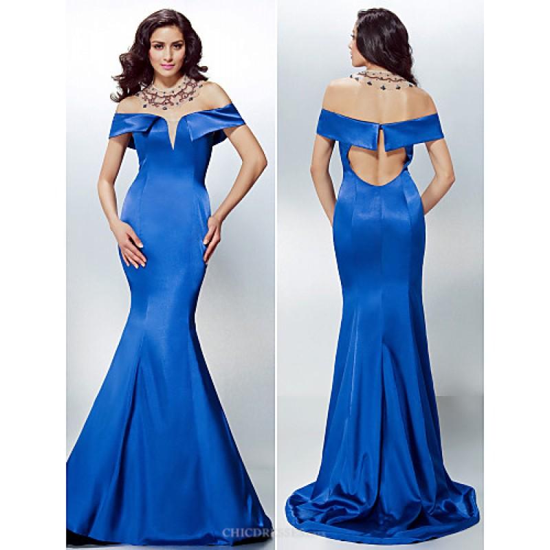 Chic Dresses Formal Evening Dress - Royal Blue Plus Sizes ...