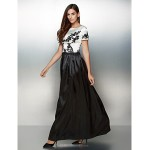 Formal Evening Dress - Multi-color A-line Scoop Ankle-length Satin Special Occasion Dresses