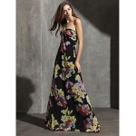Formal Evening Dress - Print Plus Sizes / Petite Sheath/Column Sweetheart Floor-length Chiffon Special Occasion Dresses
