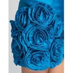 TS Couture Cocktail Party / Prom Dress - Ocean Blue Plus Sizes / Petite Sheath/Column Strapless Short/Mini Taffeta Special Occasion Dresses
