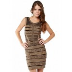 Cocktail Party Dress - Multi-color Petite Sheath/Column Jewel Short/Mini Spandex / Rayon / Nylon Taffeta Special Occasion Dresses