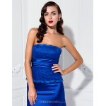 TS Couture Formal Evening / Military Ball Dress - Ocean Blue Plus Sizes / Petite Trumpet/Mermaid Strapless Floor-length Stretch Satin / Lace Special Occasion Dresses