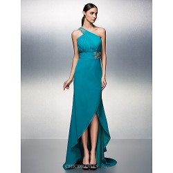 Formal Evening Dress - Jade Plus Sizes / Petite A-line One Shoulder Asymmetrical Chiffon