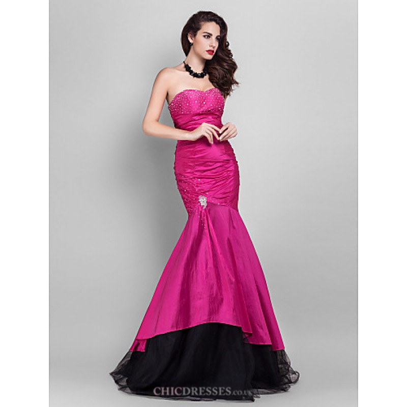 21e27285954 ... Trumpet Mermaid Strapless   Sweetheart Floor-lengthTulle   · TS Couture  Prom   Military Ball   Formal Evening Dress - Fuchsia Plus Sizes   Petite