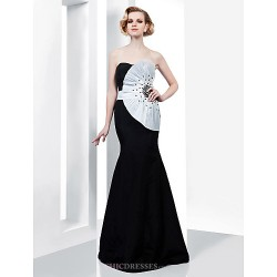 Formal Evening / Military Ball Dress - Black Plus Sizes / Petite Trumpet/Mermaid Strapless / Sweetheart Floor-length Taffeta
