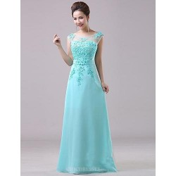 Formal Evening Dress Pool Plus Sizes A Line Jewel Floor Length Chiffon