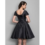 TS Couture Cocktail Party Dress - Black Plus Sizes / Petite A-line / Princess Bateau Knee-length Taffeta Special Occasion Dresses