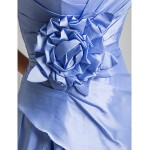 Cocktail Party / Homecoming / Prom / Sweet 16 Dress - Lavender Plus Sizes / Petite A-line Halter / Sweetheart Knee-length Taffeta Special Occasion Dresses