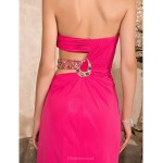 TS Couture Prom / Formal Evening / Military Ball Dress - Fuchsia Plus Sizes / Petite Sheath/Column Sweetheart / Strapless Floor-length Chiffon Special Occasion Dresses