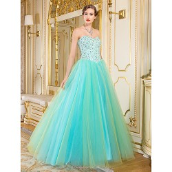 Formal Evening Dress Multi Color A Line Sweetheart Floor Length Organza
