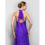 Formal Evening / Military Ball Dress - Regency Plus Sizes / Petite A-line Halter Floor-length Chiffon Special Occasion Dresses