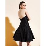 TS Couture Cocktail Party Dress - Black A-line/Princess Strapless Knee-length Taffeta Special Occasion Dresses