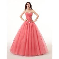 Ball Gown Sweetheart Floor Length Organza Wedding Dress
