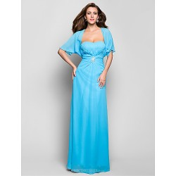 Formal Evening / Military Ball Dress - Pool Plus Sizes / Petite Sheath/Column Sweetheart Floor-length Chiffon