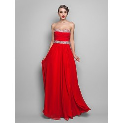 Formal Evening / Prom / Military Ball Dress - Ruby Plus Sizes / Petite A-line / Princess Strapless / Sweetheart Floor-length Chiffon