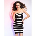 Cocktail Party / Holiday Dress - Multi-color Petite Sheath/Column Straps Short/Mini Rayon Special Occasion Dresses
