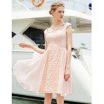 Cocktail Party Dress - Blushing Pink A-line Square Short/Mini Satin Special Occasion Dresses