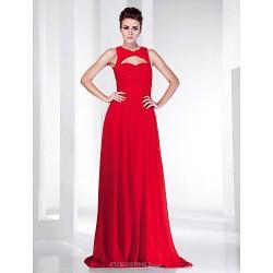 Formal Evening Military Ball Dress Ruby Plus Sizes Petite Sheath Column Sweetheart Floor Length Chiffon