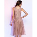 TS Couture Cocktail Party / Holiday Dress - Champagne Plus Sizes / Petite A-line / Princess V-neck Knee-length Tulle Special Occasion Dresses