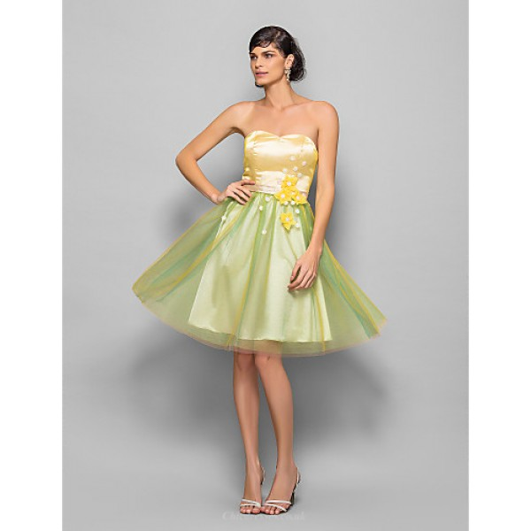 Cocktail Party / Homecoming / Holiday / Prom Dress - Multi-color Plus Sizes / Petite A-line / Princess Sweetheart Knee-lengthOrganza / Special Occasion Dresses