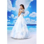 Ball Gown Formal Evening Dress - White Floor-length Jewel Organza / Satin Special Occasion Dresses
