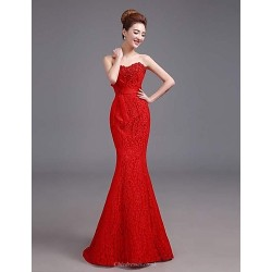 Formal Evening Dress - Ruby Plus Sizes A-line Sweetheart Floor-length Satin